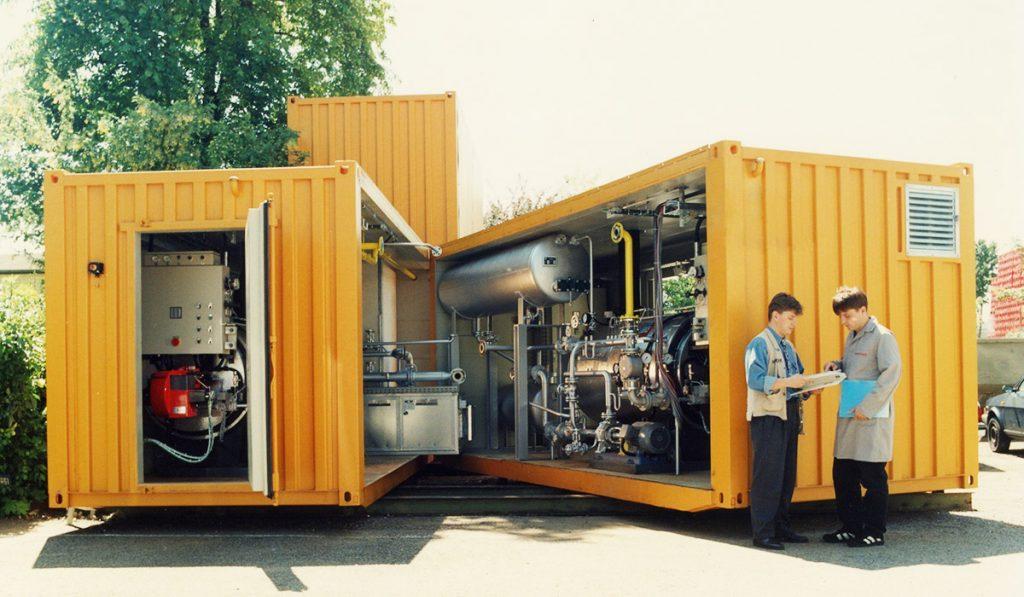 Heiz-Zentralen im Container - BBS GmbH