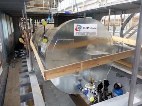 high pressure marine steam boiler type HDK-M 1.000 with a built-in steam superheater