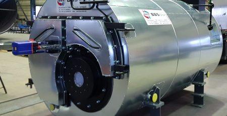 корабельный паровой котел типа HDK-M 1.000 со встроенным пароперегревателем